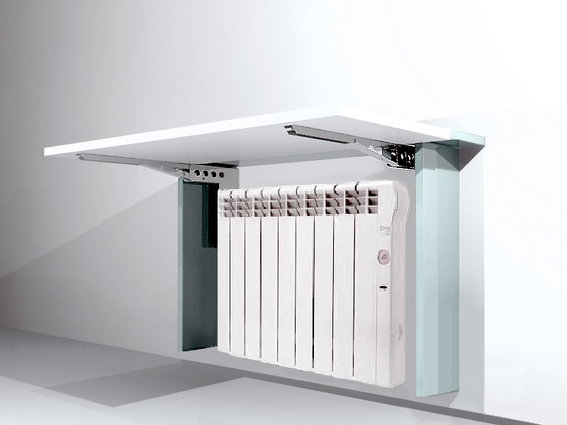 Mesa abatible cubre radiador optimiza espacio ocupado por - Cubre escritorio ...