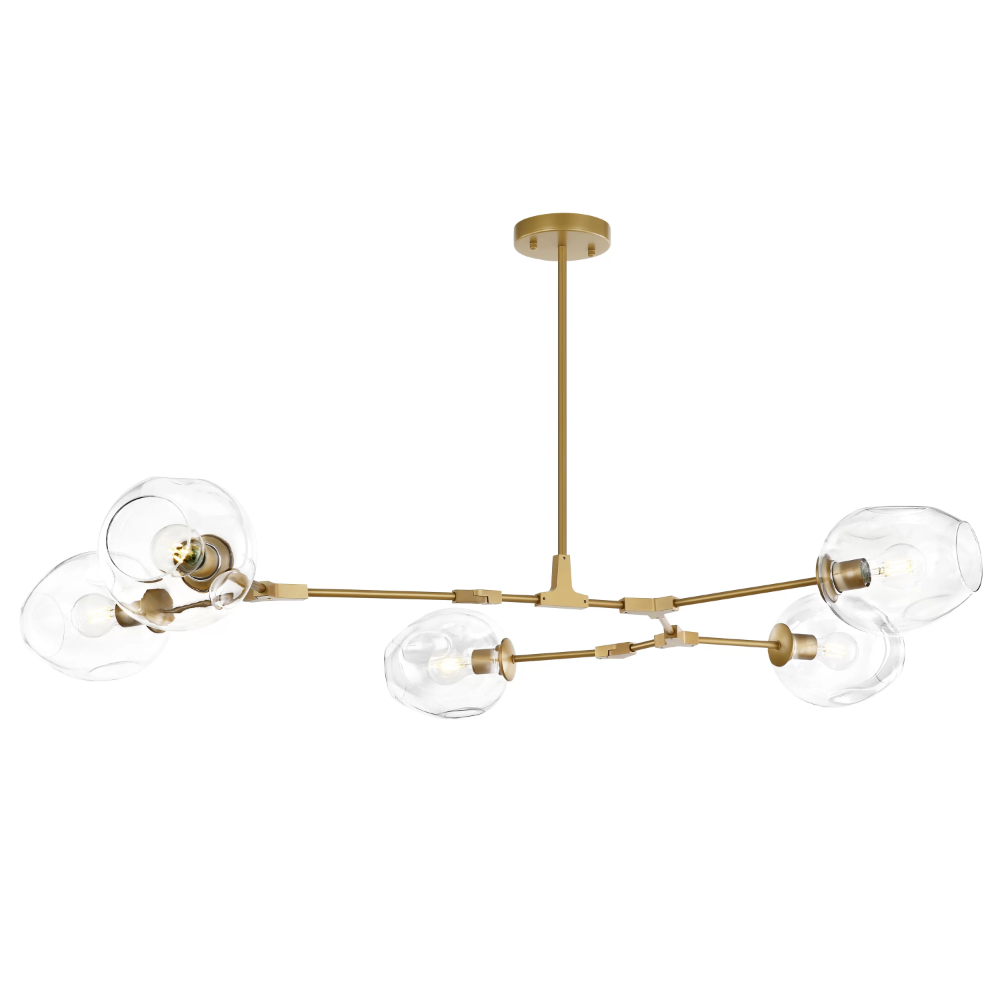 Bayboro 5 Light Sputnik Modern Linear Chandelier