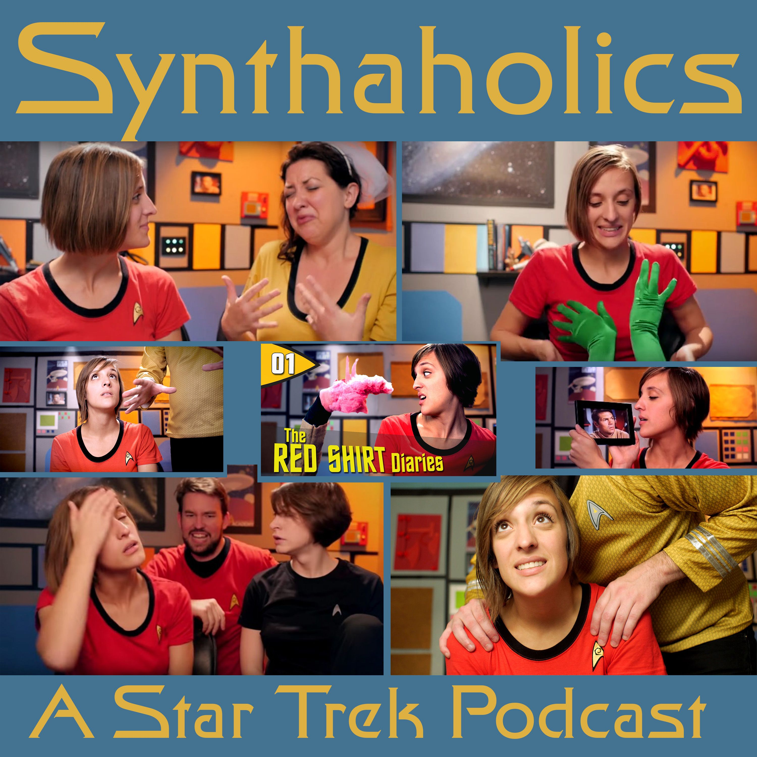 Episode 36: The Red Shirt Diaries!  This week on Synthaholics we welcome Ashley Robinson (@AshleyVRobinson) and Jason Inman (@Jawiin) from The Red Shirt Diaries (www.theredshirtdiaries.com). We talk about how the show is doing as it is now in the middle of its second season. Jason turns the interview on David and has him answer some questions about the show from a viewer perspective. Fayth asks some very interesting behind the scenes questions to which we get some awesome answers! ...