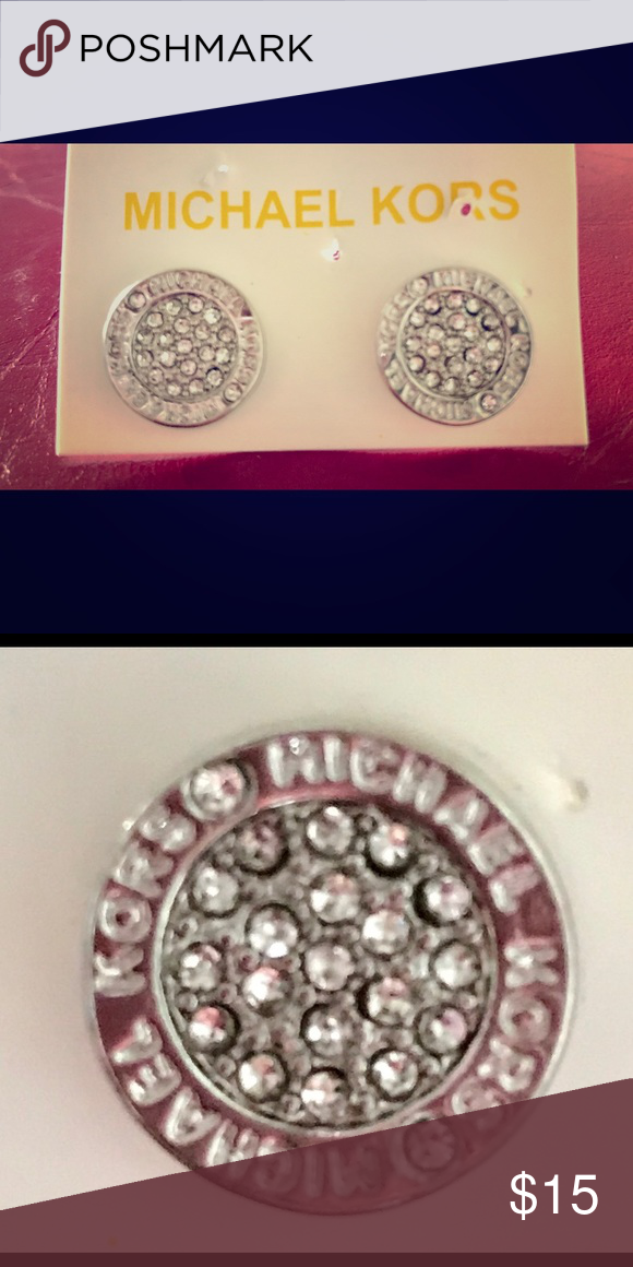 MK silver studded earrings-new! Brand new silver MK studded earrings. Not sure if these are authentic? They are not lightweight. Beautiful! I'm pricing them low since I picked them up at a small shop and cannot authenticate. Jewelry Earrings