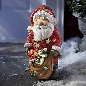 Lighted Santa at Ginny's
