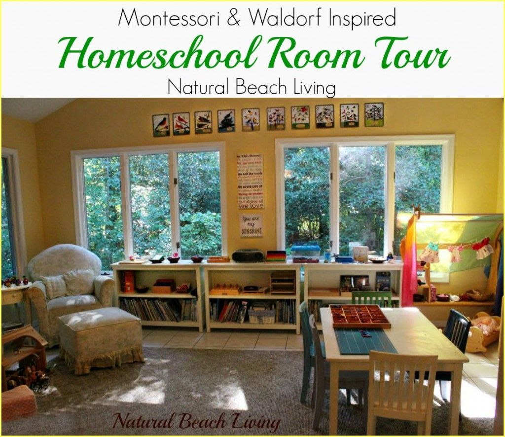 Montessori Amp Waldorf Inspired Homeschool Room Home Learning Home Daycare Montessori Playroom