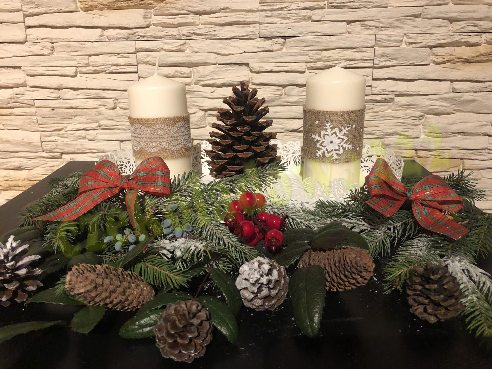 Christmas Candle Swiece Bozonarodzeniowe Diy Diy Candles Table Decorations Decor