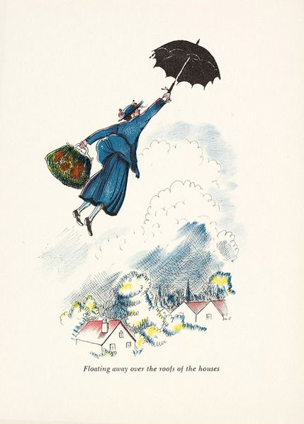 Image result for mary poppins illustration