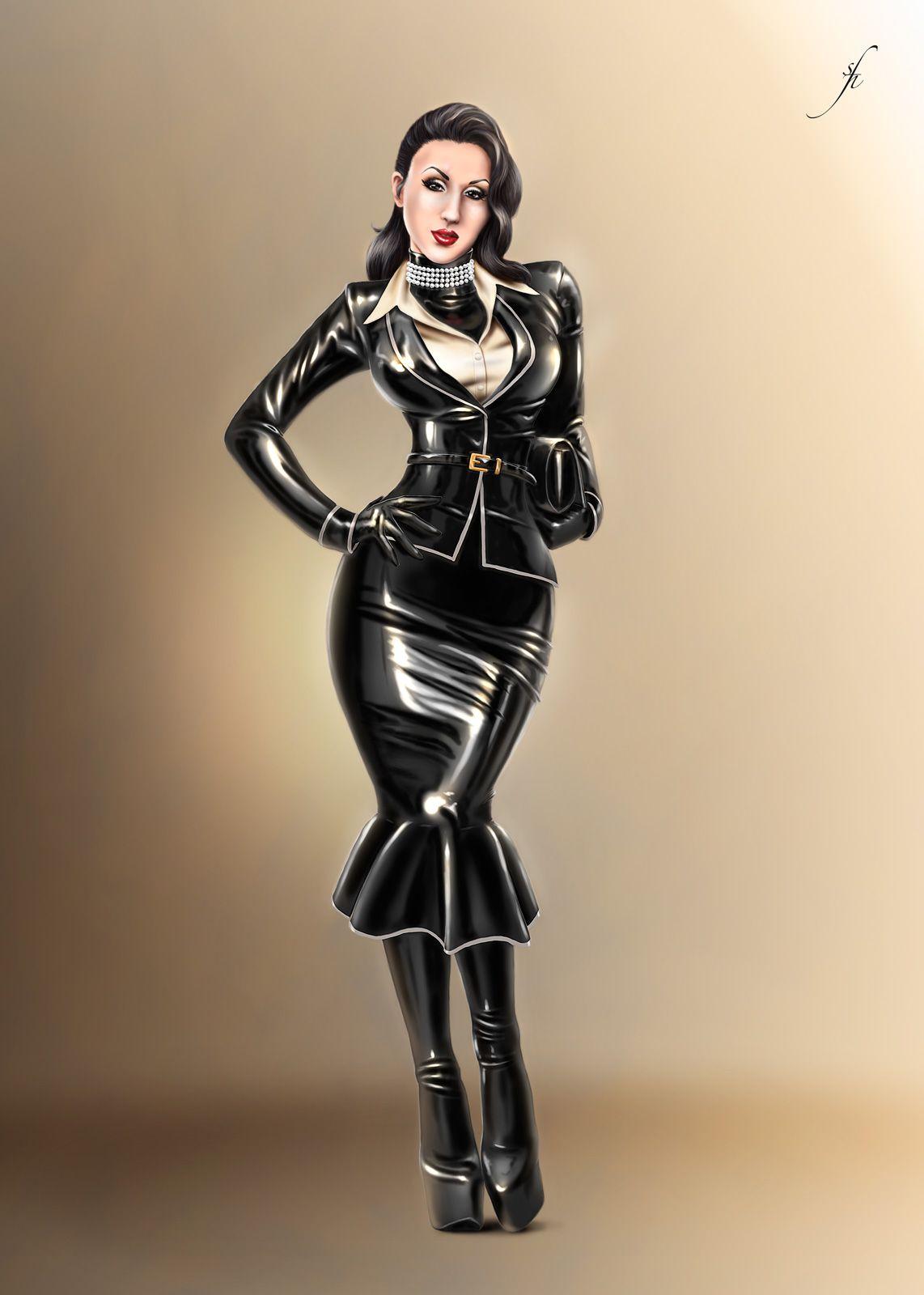 Latex Female Suit