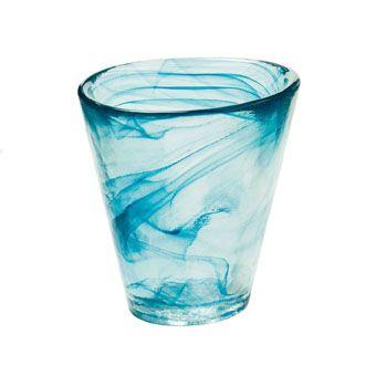 mine turquoise glass tumbler. $37