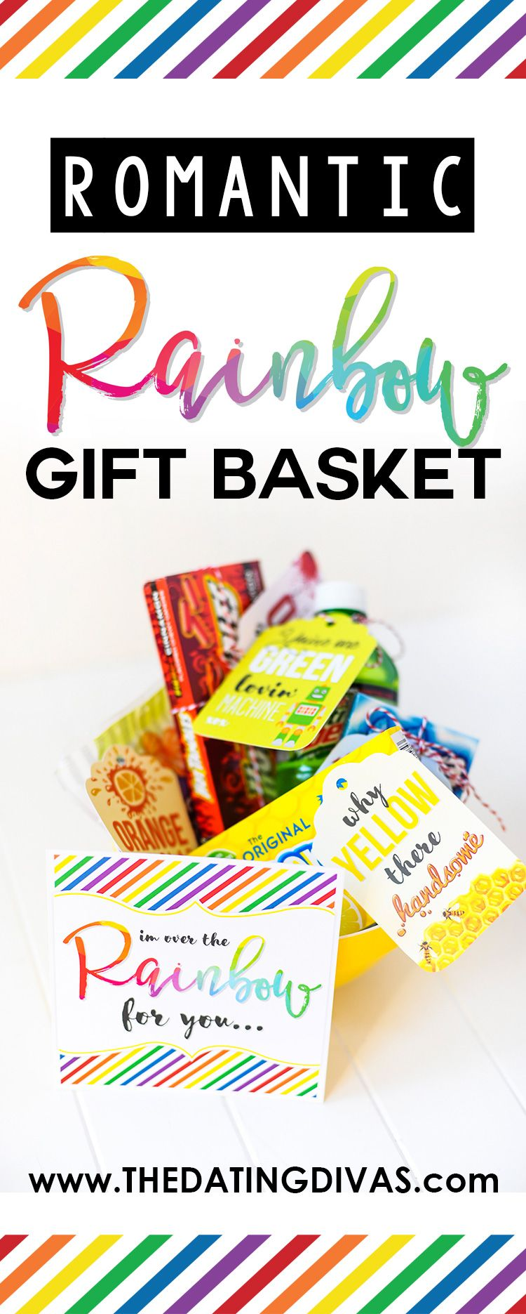 Romantic rainbow gift basket free printable gift tags rainbows free printable gift tags to make your own romantic rainbow gift basket the perfect gift negle Gallery
