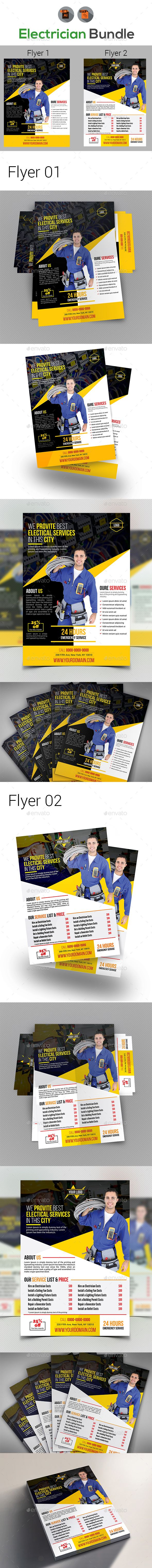 Electrical Services Flyers Templates  Flyer Template Template