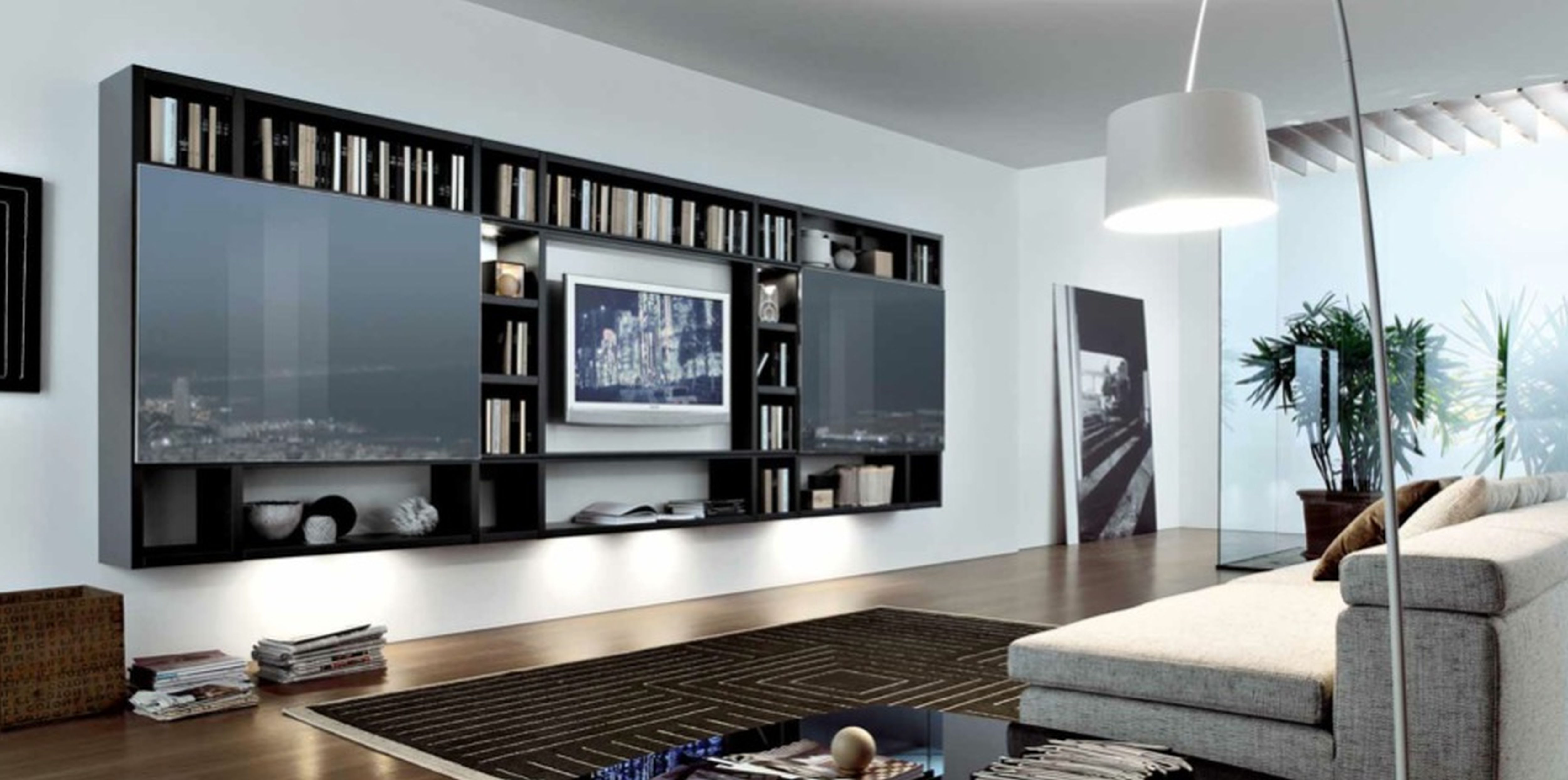 Amazing Black Wooden Wall Mount | Living room modern, Unique ...
