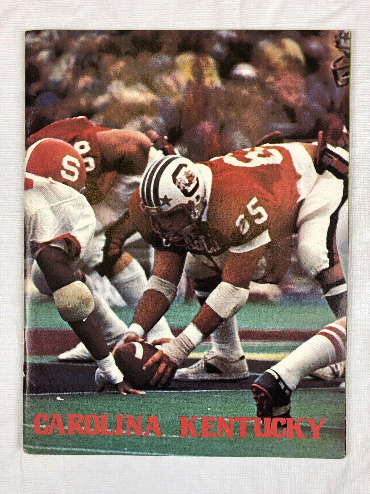 1978 south carolina vs kentucky ncaa official football