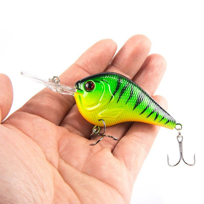 10 Fishing Lures Lots Of Mini Minnow Fish Bass Tackle Hooks Baits Crankbait f9