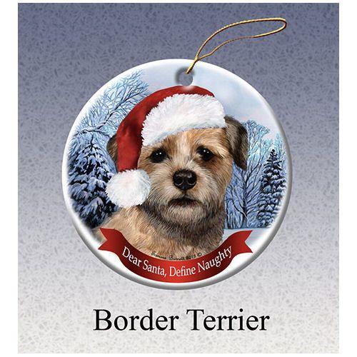 Border Terrier Howliday Dog Christmas Ornament Dog Christmas