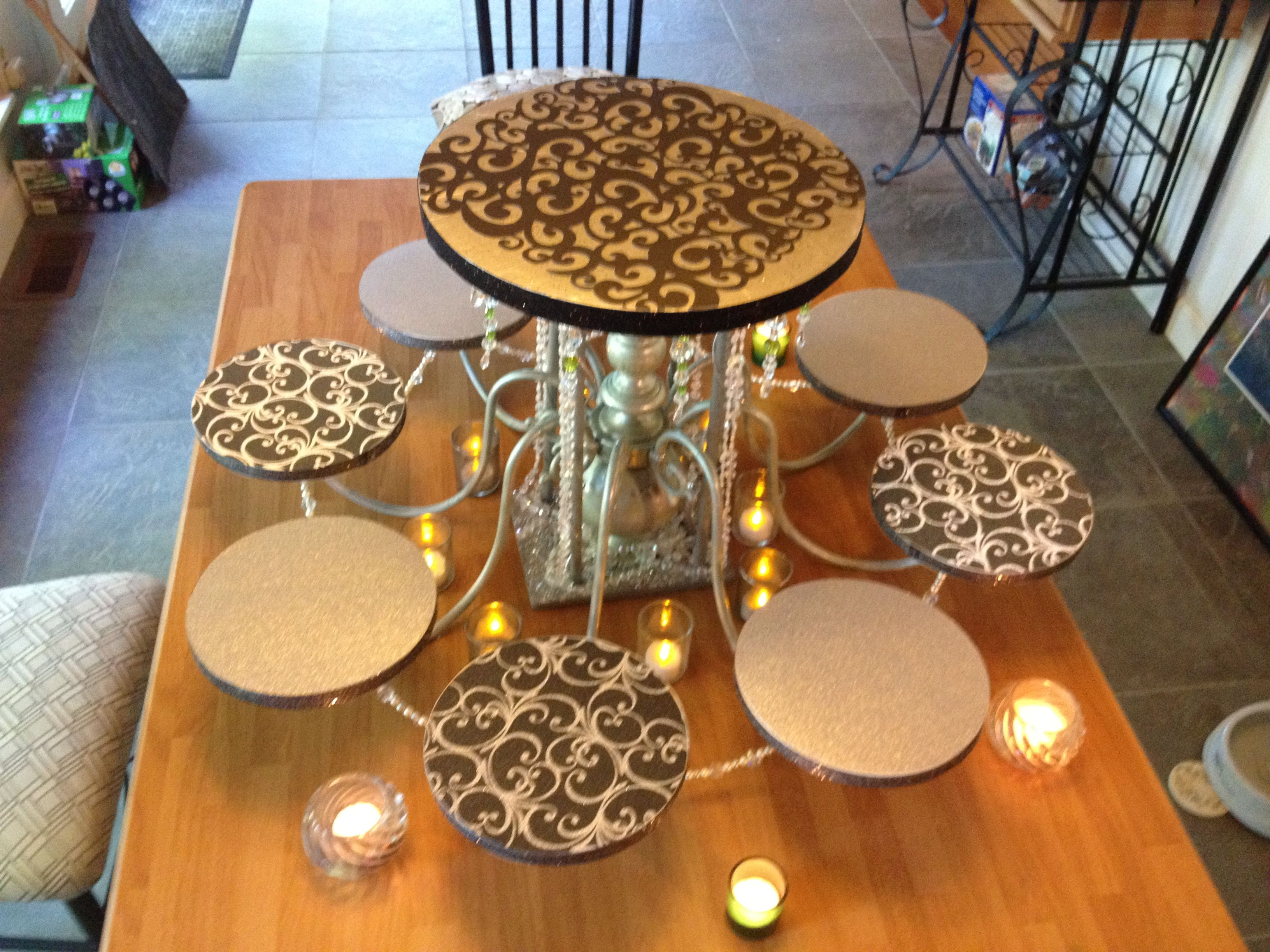 Diy Cake Stand For Dessert Table Must Figure Out How To Make This
