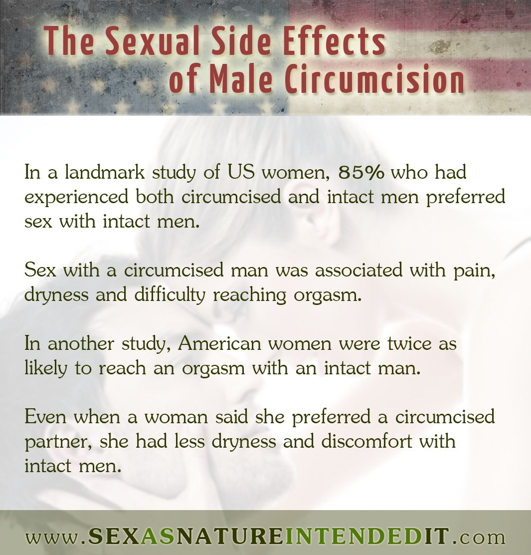 How does circumcision effect sex