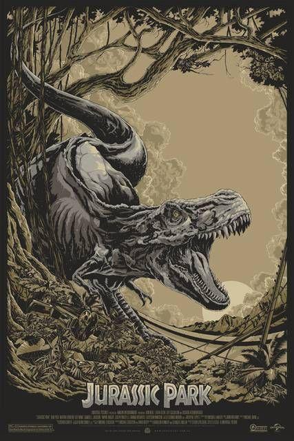 Poster mondo jurassic park jurassic park film cinema y dinosauri