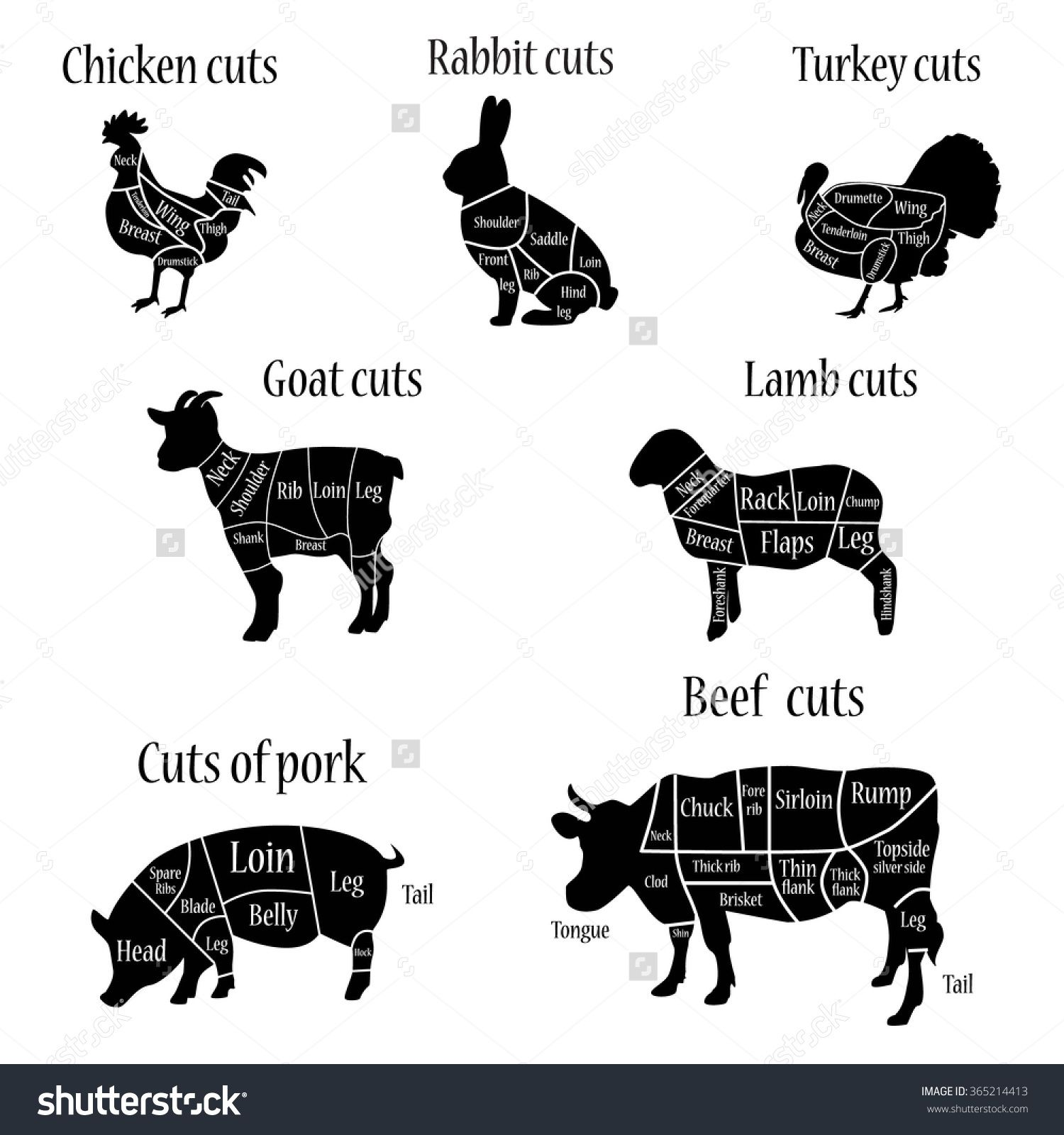 Diagram Of Turkey Cuts - Product Wiring Diagrams •