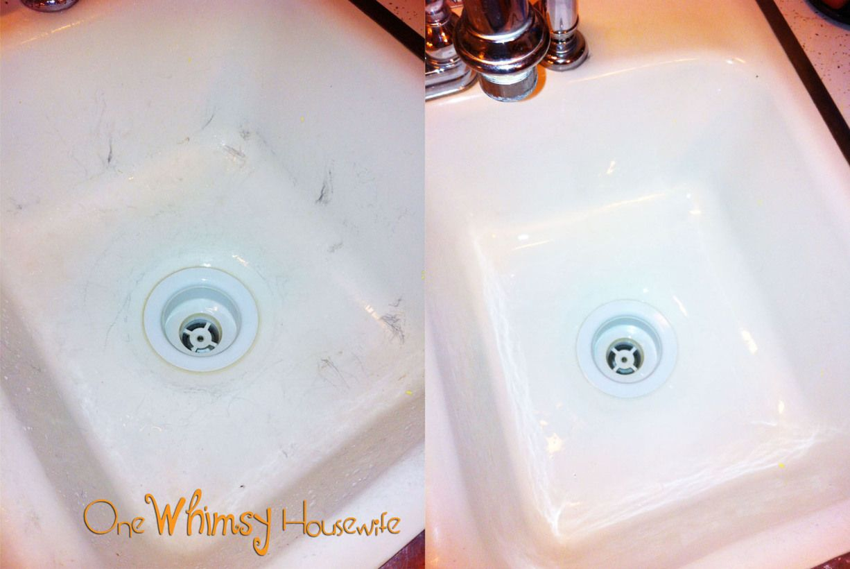 Scratches In Your Porcelain Sink Meet Your New Best Friend Porcelain Sink Porcelain Kitchen Sink Clean Kitchen Sink
