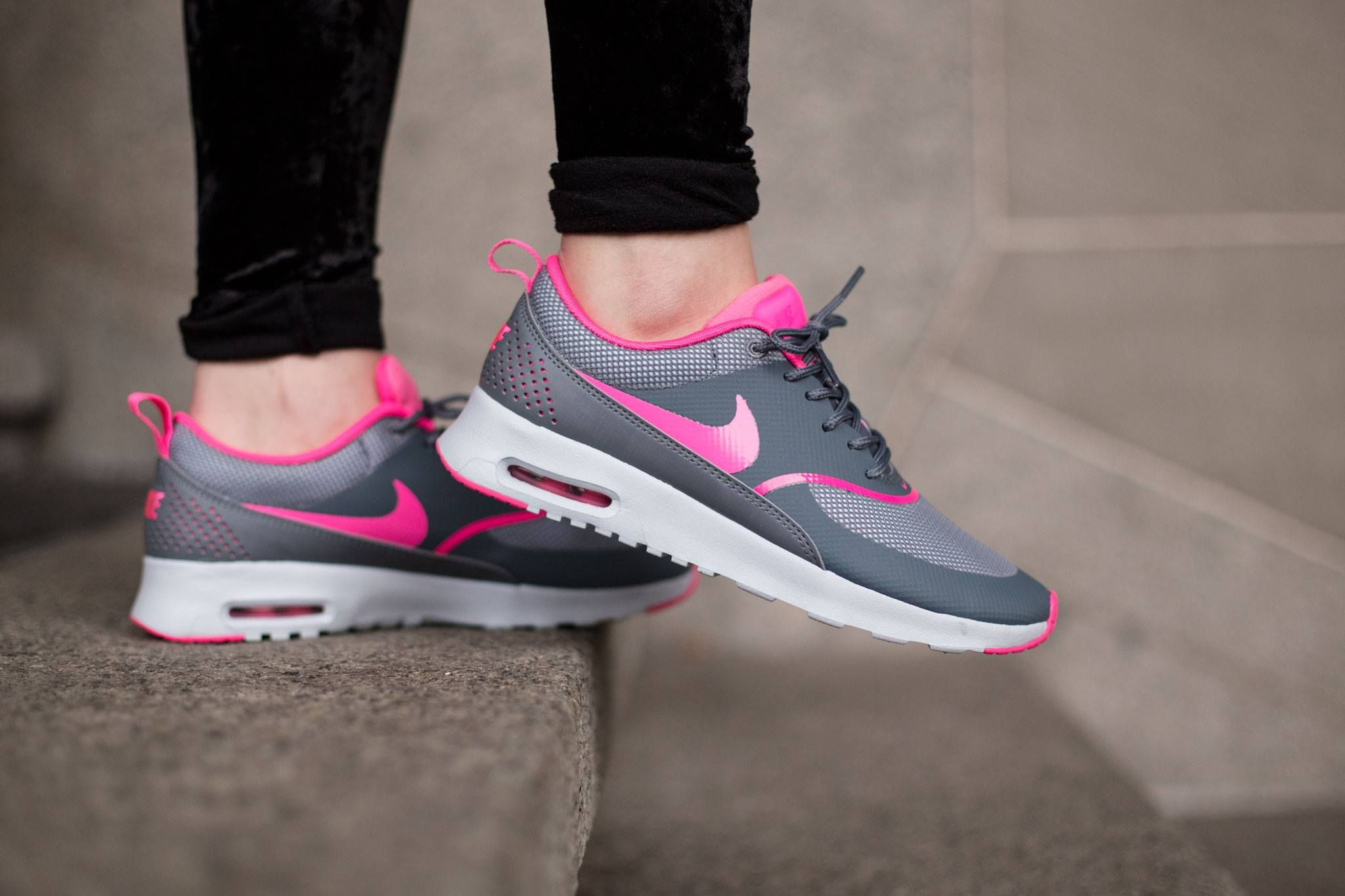 Nike Air Max Thea Grey Pink Nike Air Max Nike Free Shoes Nike Runners