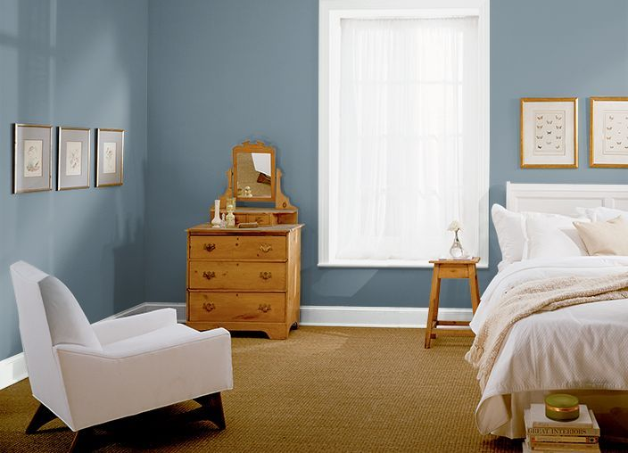 Paint Color Behr Smokey Blue 540 F5 Remodel Bedroom