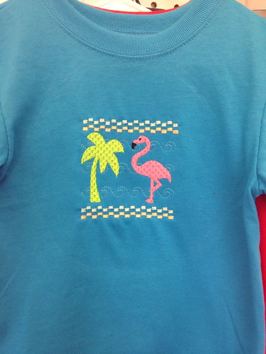 A personal favorite from my Etsy shop https://www.etsy.com/listing/187861901/faux-smocked-flamingo-shirt-for-baby-or