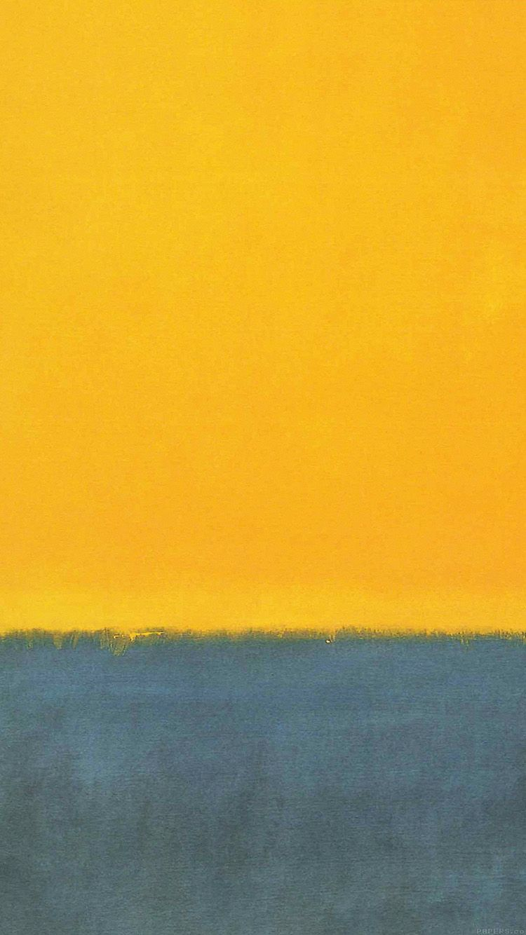 Al62 Classic Mark Rothko Style Paint Art Yellow In 2019