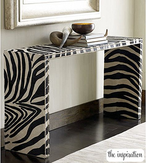 DIY Zebra Console Table
