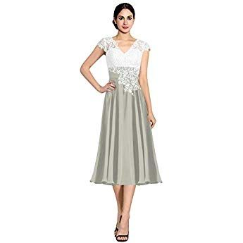 a7fd6a9bdf7506 Newdeve Chiffon Mother of The Bride Dresses Long Pleated with Rhinestones  Short Sleeve Black at Amazon