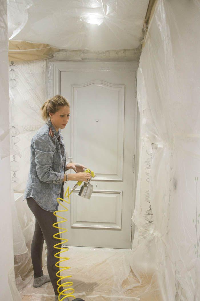 Resultado de imagen para de que color pintar las puertas - Como pintar madera en blanco ...