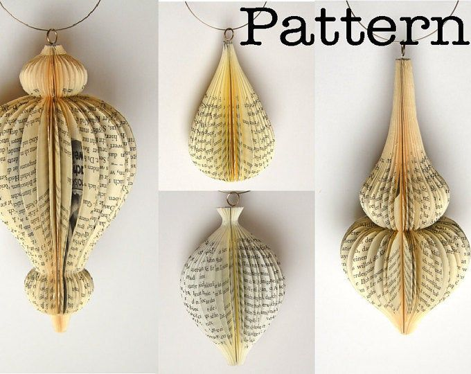 DIY Tutorial - Patterns for 6 different Book sculptures: instant download