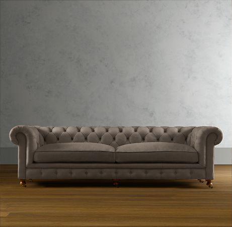 Restoration Hardware Couch Rustic Vintage Furniture