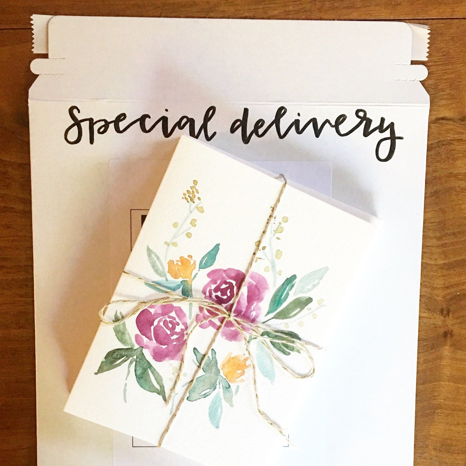 Hand Made Watercolor Cards Greeting Cards Thank You Cards Hand