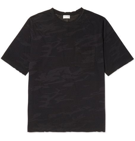 Outlet Wiki Distressed Printed Cotton-jersey T-shirt Saint Laurent Cheap Sale Choice Buy Online Authentic Buy Cheap 100% Original uy5sw