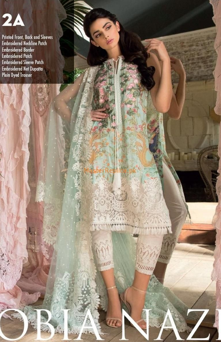 90ca29380b Check Out Sobia Nazir 2A Luxury Swiss voile Collection Replica 2018 at Master  Replica Pakistan Call/WhatsApp: +923322622227 #pakiclothing ...