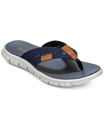 a0d97cfb3df Cole Haan Men s ZeroGrand Stitchlite Thong Sandals - Blue 10