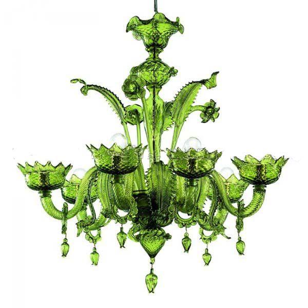 Murano Glass Art Murano Chandelier Glass Chandelier Green
