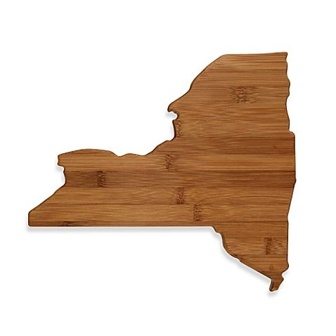 Proudly show your state pride with this Totally Bamboo Cutting/Serving Board in the shape of your state. Both functional and decorative, it's great for serving snacks and chopping vegetables.