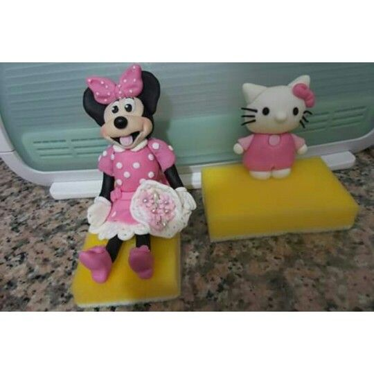 Fonsant minni mouse and hello Kitty