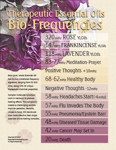 frequency chart essential oils and disease Essential Oils