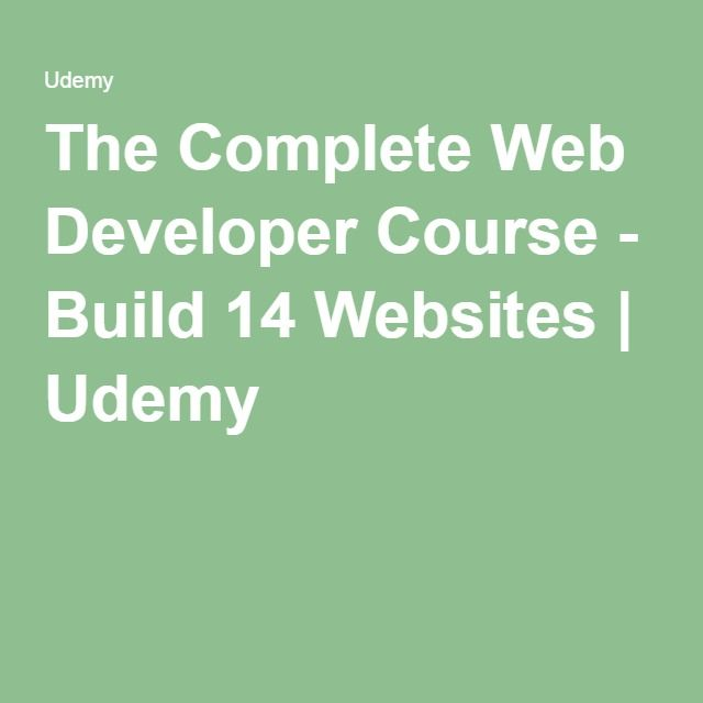 The Complete Web Developer Course - Build 14 Websites | Udemy