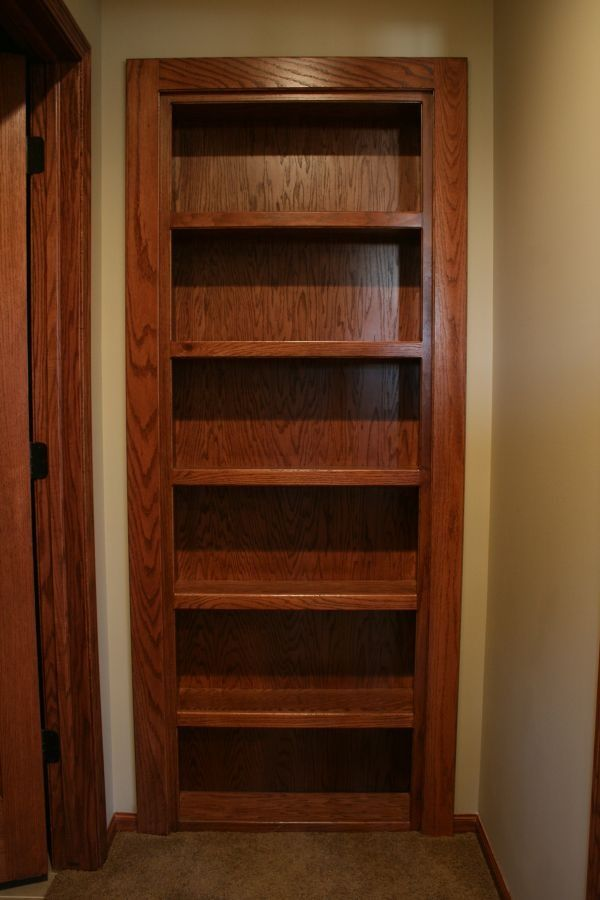 Secret Door/bookcase. I love this if I ever remodel the