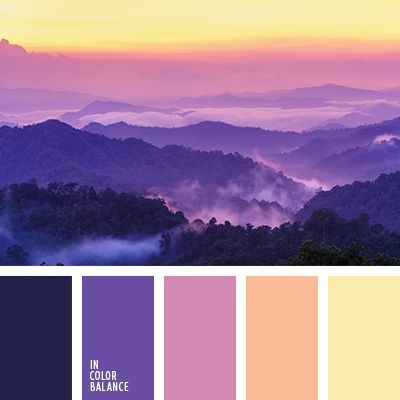 Color Combination Pallets Palettes Scheme Inspiration Beautiful Shades Of Perfect Evening Pink Purple Yellow And Other