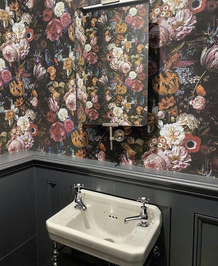 Bathroom Burlington Bathrooms Medici Basin Home Deco Basin Bathrooms Bold Print Wallpape In 2020 Small Bathroom Decor Burlington Bathroom Diy Bathroom Remodel