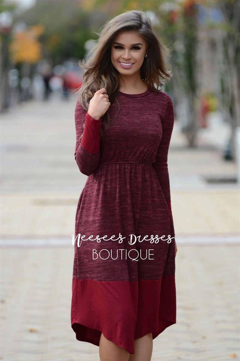 Sleigh Ride Burgundy Sweater Dress | Burgundy sweater dress ...