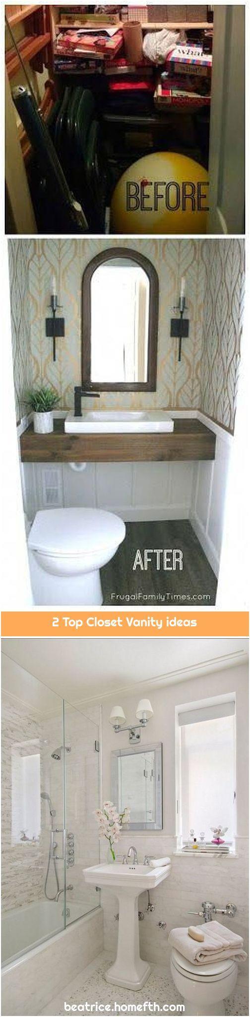 2 Top Closet Vanity Ideas Closet Vanity Add A Bathroom Round Mirror Bathroom