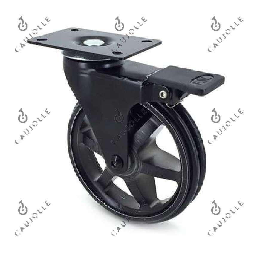 Roulette De Table Basse Palette Noire Diametre 125 Mm A Frein Roulette Pour Meuble Table Basse Palette Table Basse