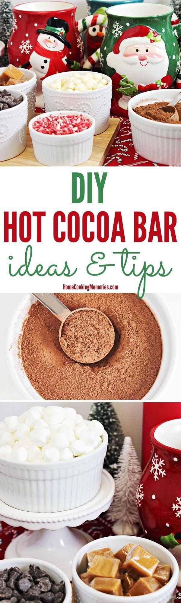 DIY Holiday Hot Chocolate Bar Ideas & Tips - Home Cooking Memories #hotchocolatebar