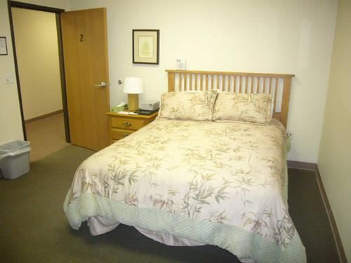 Comfortable bedroom in our Gaylord Office.