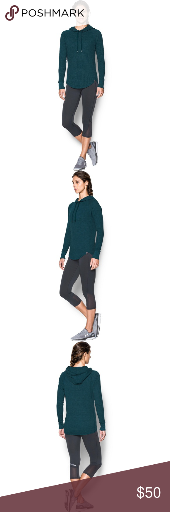 Under Armour Womens Waffle Hoodie Under Armour Apparel 1286574