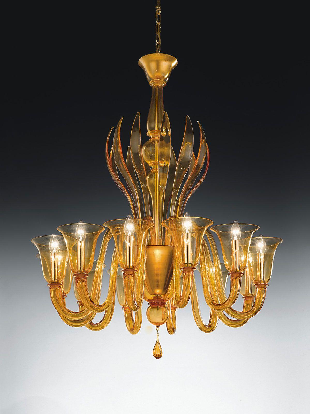 Doge-12 L Murano glass pendant light | Glass pendant light ...