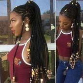 # burgundy fulani Braids 32+ Latest Burgundy Box Braids Ponytails That Will Be Perfect On Summer # fulani Braids ponytail